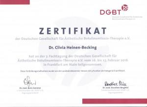 Dr. med Clivia Heinen Becking - Zertifikat (1)