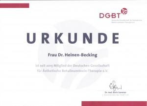 Dr. med Clivia Heinen Becking - Zertifikat (2)