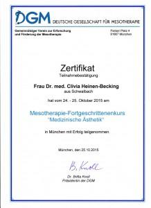 Dr. med Clivia Heinen Becking - Zertifikat (3)