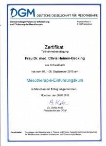 Dr. med Clivia Heinen Becking - Zertifikat (4)